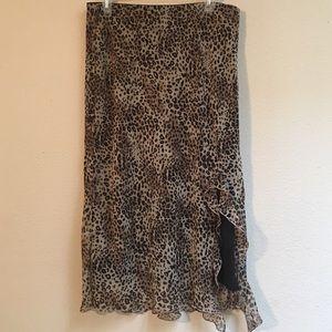 Newport News Dresses & Skirts - Women's cheetah print dress skirt