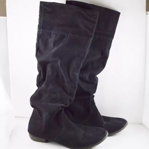 Forever 21 faux suede slouchy boots sz 7