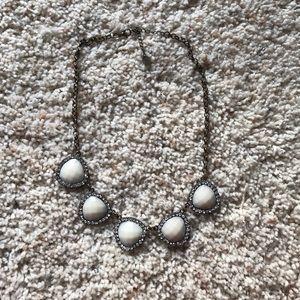 Icing Jewelry - White Rhinestone Necklace