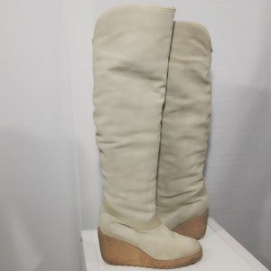 Yves Saint Laurent Shoes - YSL PULL ON KNEE HIGH SUEDE BOOTS 38 FITS US 7