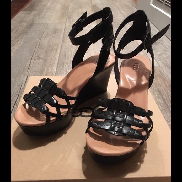 51086f0ef93 UGG Farrah ankle strap wedge sandals
