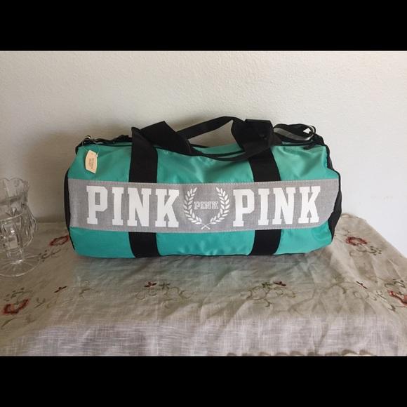 273420730 PINK Victoria's Secret Bags | Victorias Secret Pink Teal Gym School ...