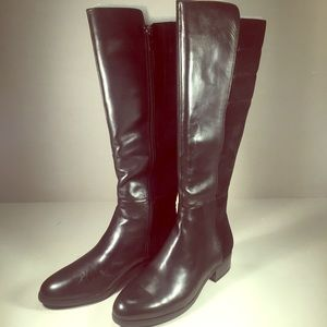H by Halston Shoes - H by HALSTON Black Leather Boots, NIB  Ladies 8M