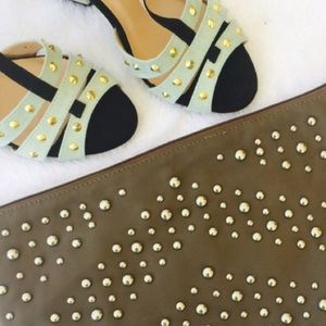 Shoe Dazzle Shoes - Light Green block heels by show dazzle