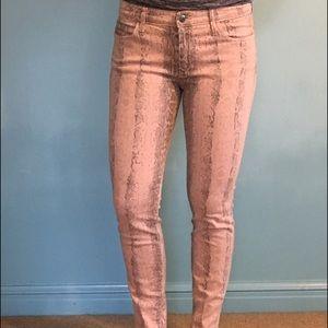 Joe's Jeans Pants - Pink snakeskin Joes Jeans