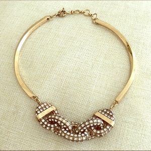 Gold toned rhinestone necklace