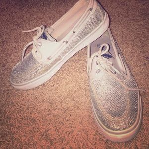 Sperry Top-Sider Shoes - Silver sperrys!!!💎 size 6.5