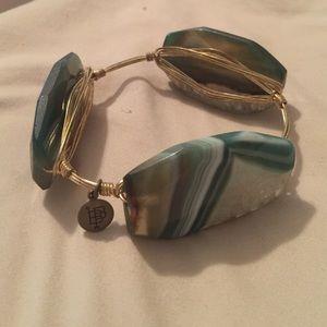 Bourbon and Boweties large stone bracelet