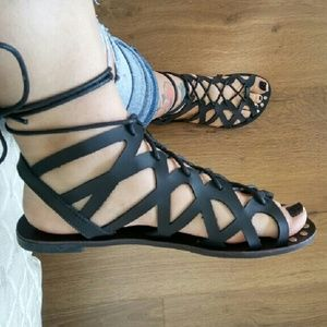 Athena lace up sandals