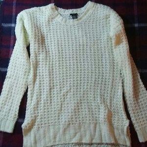 Brand New Rue 21 White Knit Long Sweater