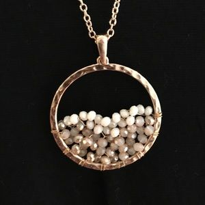 Jewelry - 🆕Wire Wrap Natural Stone Bead Pendant Necklace