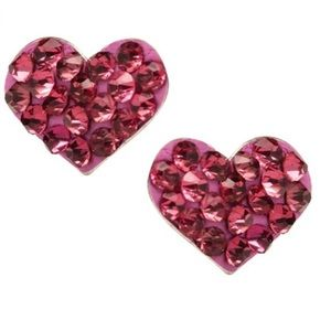 Other - Swarovski Crystal Heart Earrings