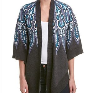Anthropologie Sweaters - Ella Moss Tribal Silk Blend Poncho Sweater. small
