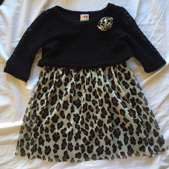 Cute Black   Cheetah Print Toddler Dress f079d7ac8