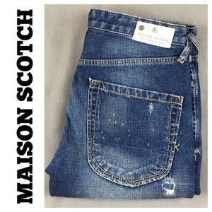 DISTRESSED Maison Scotch Naoyo Denim jean size  27
