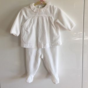 Cyrillus Other - Cyrillus Paris WORN ONCE velour onesie size 3M