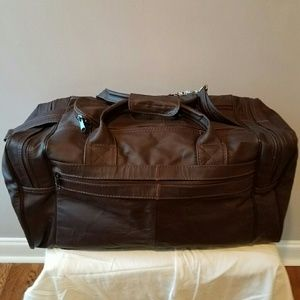 Other - Handcrafted Leather Duffel Bag