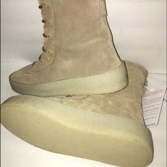 0ac1fa21d02c8 kanye wearing yeezy military boot brown