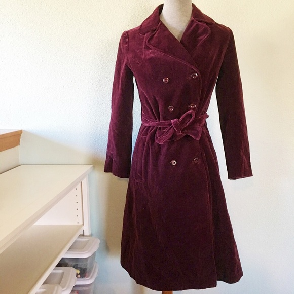 c098e5721 Drizzle Jackets & Coats   Vintage Purple Velvet Trench Coat   Poshmark