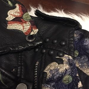 Blank NYC Jackets & Coats - Blank NYC embroidered faux leather jacket