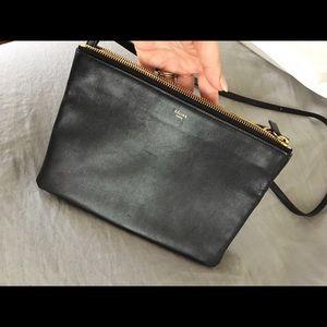 Celine Handbags - Celine large trio black crossbody