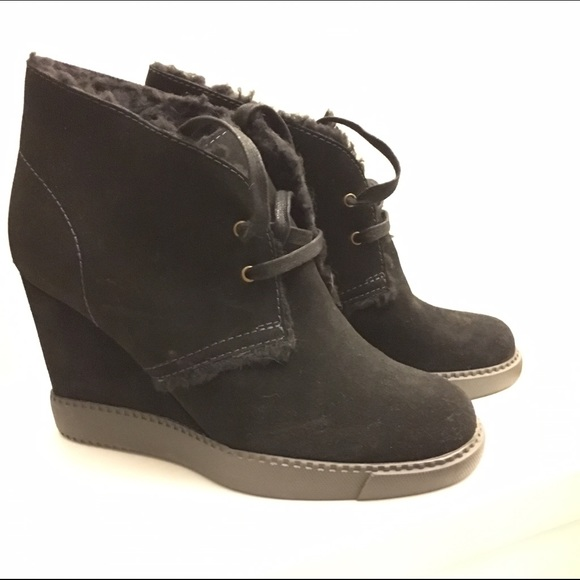 f08102c3d2b MOVING SALE See by Chloe shearling wedge boot