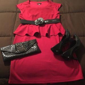 """Spense Dresses & Skirts - """"Spense"""" Red peplum dress"""