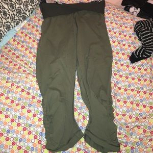 lululemon athletica Pants - REPOSH: sunset salutation crop army green 🤗