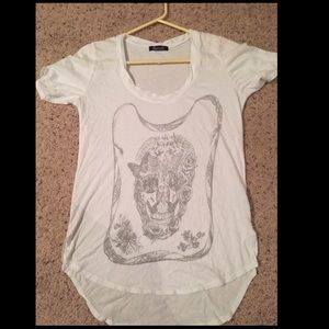 Signorelli Tops - Over sized white tshirt with skull