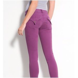 Hudson Jeans Denim - Hudson skinny ankle jeans in plum