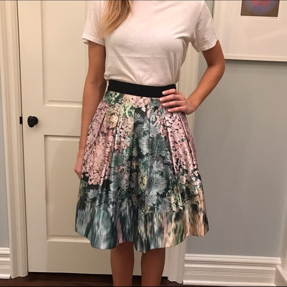 f9e8d1859f2db1 Ted Baker Skirts   Watercolor Floral Skirt   Poshmark