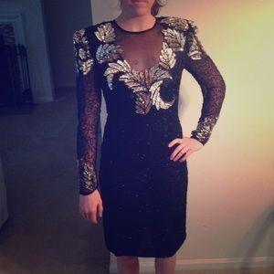 Scala Dresses & Skirts - Scala Long Sleeve Sequin Cocktail Dress