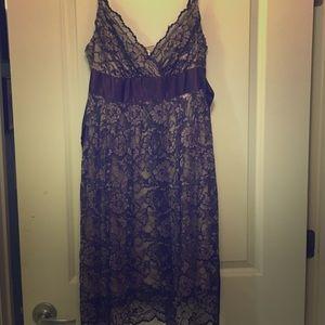 Necessary objects crochet back maxi dress