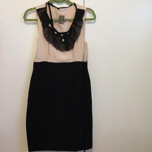 Taylor Dresses & Skirts - NWOT Taylor silk/polyester, black/peach dress