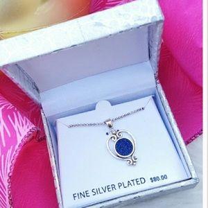 kohls Jewelry - FIRM🎉NEW $80 Druzy Silver Fine Jewelry Necklace