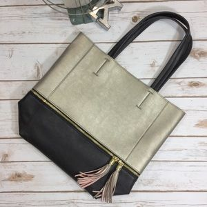Relic Handbags - Relic gold and black tote bag