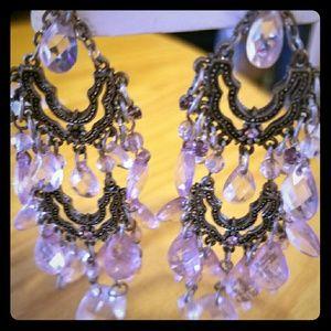 Jewelry - Gorgeous Pink Vintage Earrings