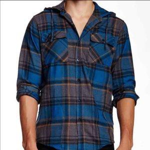 Ezekiel Other - HP 🌀Ezekiel Hooded Flannel sz Medium Blue Gray