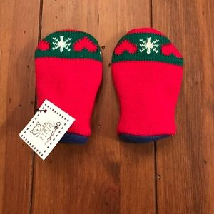 Other - Baby Red Christmas Handmade Fleece Lined Mittens
