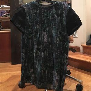 COS printed viscose/silk blouse