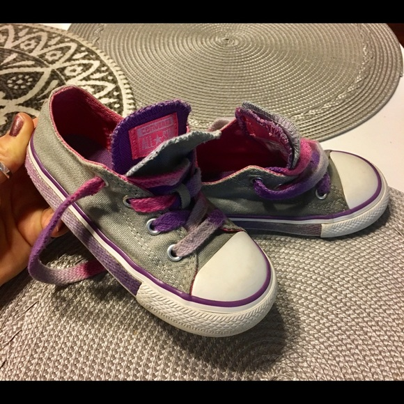 cfc9517e8804b4 Converse Other - CONVERSE Toddler girl size 8 gray pink purple