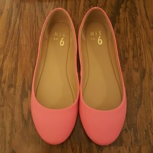 Mix No. 6  Shoes - Bright Pink flats.