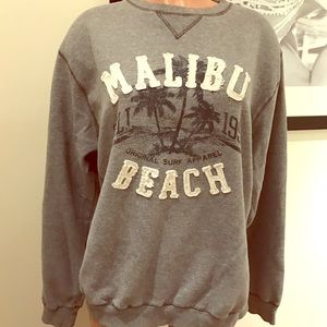 Malibu beach cozy sweatshirt