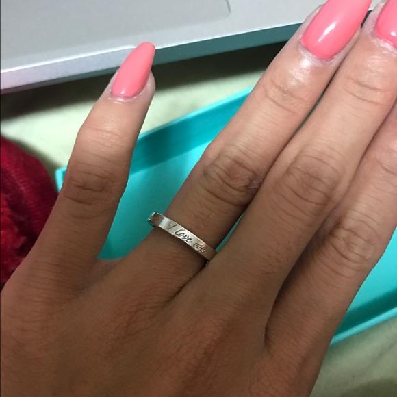 dfcd434ec Tiffany & Co. Jewelry | Tiffany Co I Love You Ring | Poshmark