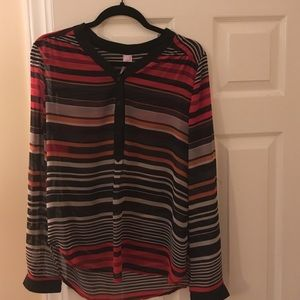 Tops - Navy striped tunic blouse size L