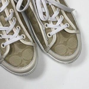 Coach Monogrammed Tennis Shoes