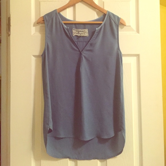 77% off Pink Martini Tops - Pink Martini | Powder Blue Blouse from ...