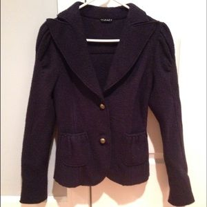 Sisley Jackets & Blazers - Sisley Navy Wool Jacket