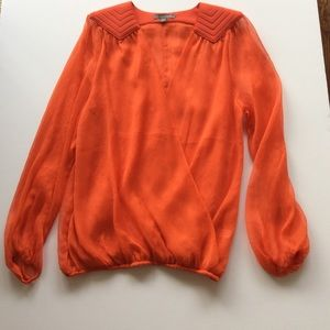 TINLEY ROAD ORANGE SHEER BLOUSE