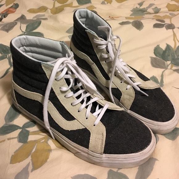 b1d63f3d70bc50 Madewell x Vans sk8-hi high-top sneakers in wool. M 585219c75a49d0907701827f